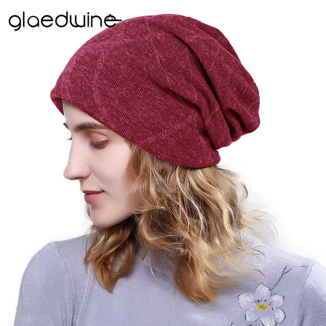 dc59ae6b8d8 Glaedwine Fashion Unisex Autumn winter hats for women men Skullies beanies  High Quality Knitting Outdoor sports Wool Warm cap