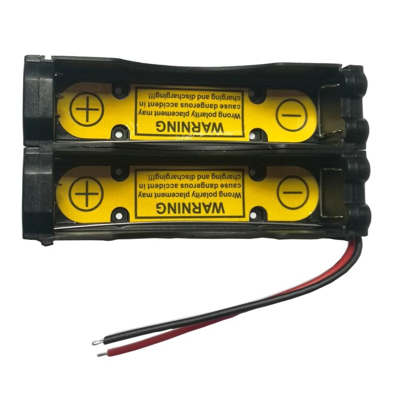 1Pcs Charging Discharging Control Battery Holder Case for Li-ion 7.4V 18650 17670 Cell 2S1P battery charging slot