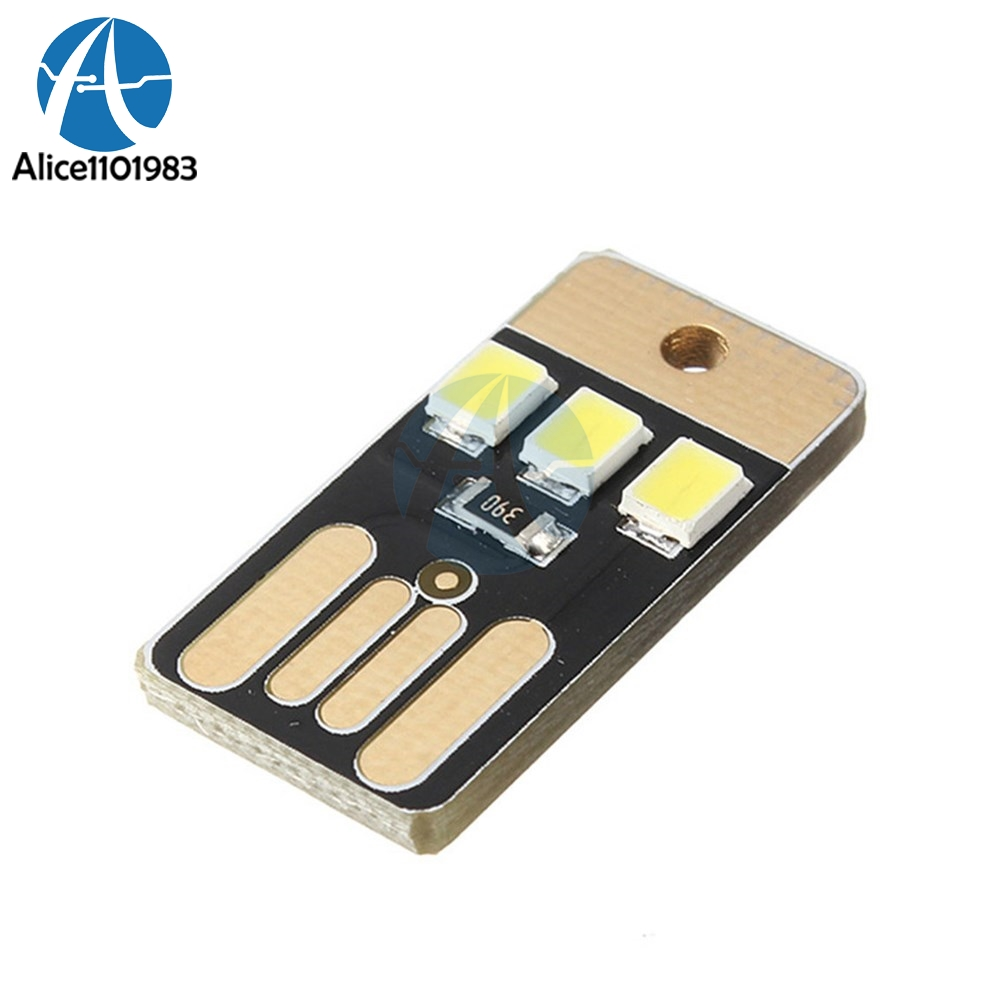 10pcs Card Lamp Bulb Led Keychain Mini White Led Night Light Portable Usb Power Complete In Specifications Active Components Integrated Circuits