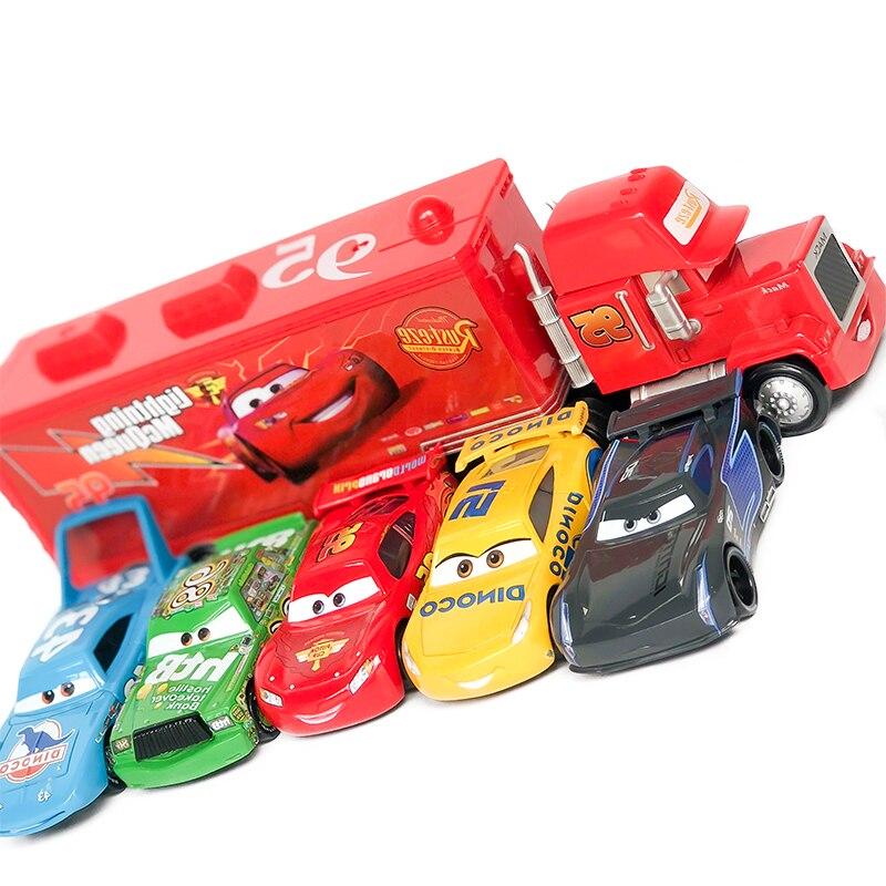 6PCS SET Disney Pixar Cars 3 2 1 Diecast McQueen Jackson Diecast Metal  Alloy Model Cars Disney Car 1:55 Toy Kids Best Gift