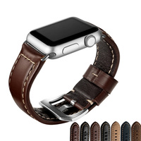 38mm 42mm Genuine Leather Watch Band For Apple Watch Classic Style Black Brown Sport Loop High