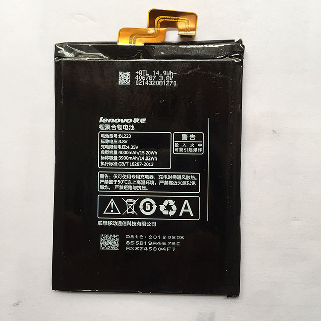 High Capacity 3900mAh BL223 Battery for Lenovo K920 VIBE Z2 PRO battery With Tracking Number Free Shipping