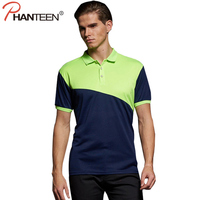 Phanteen Summer Short Sleeve Man Polo Shirts Patchwork Color Business Casual Men Pullovers Fashion Brand Team