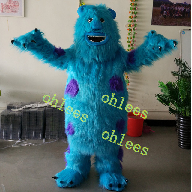 Ohlees monsters university sulley cartoon movie character mascot ohlees monsters university sulley cartoon movie character mascot costumes halloween party christmas party costume adults size voltagebd Image collections