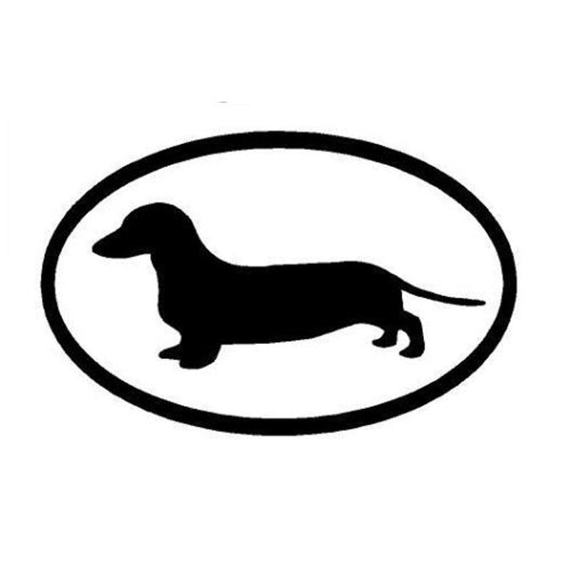 15.2*9,8 см такса собака виниловая наклейка автомобиля Крышка царапин наклейки личности мультфильм животных черный/щепка С6-1210