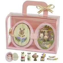 DIY миниатюрная мебель для кукольного дома деревянный Миниатюрный Кукольный дом коробка театральные игрушки для детей подарки на день рождения Casa Seed World R1