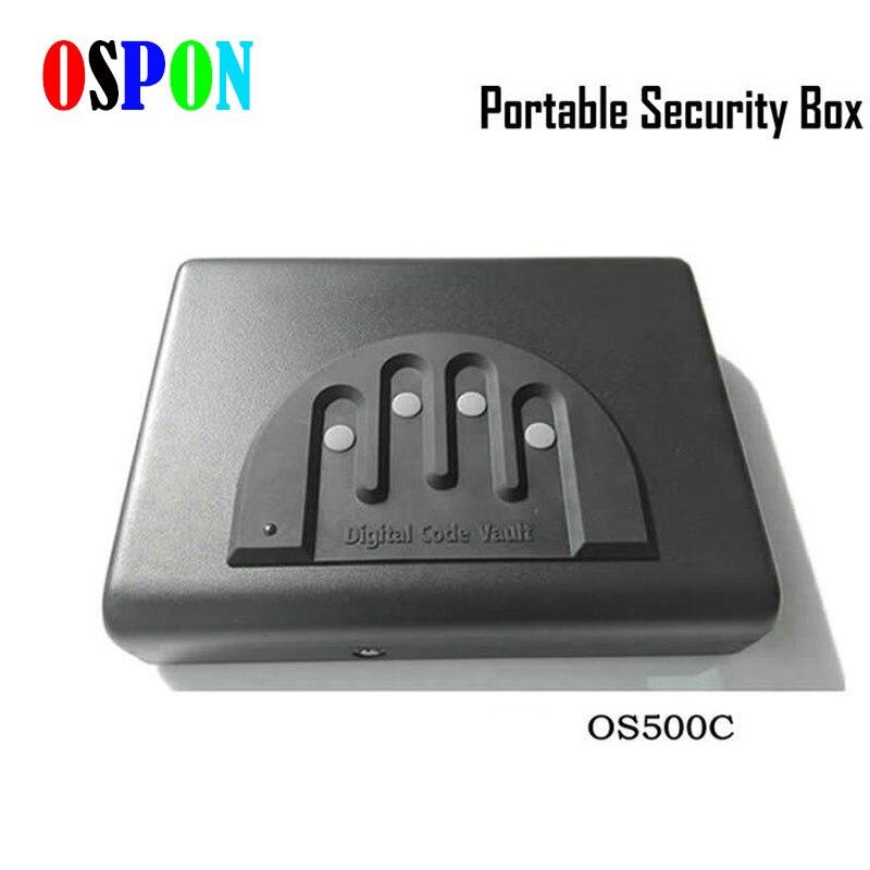 Electron Password Safe Box Solid Steel Security Combination Lock Key Gun Money Valuables Jewelry Box Protable Security Strongbox el izi okumali silah kasası
