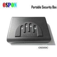 Electron Password Safe Box Solid Steel Security Combination Lock Key Gun Money Valuables Jewelry Box Protable