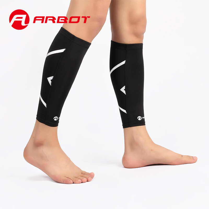 ふくらはぎ圧縮スリーブ脚パフォーマンス圧縮靴下すねスプリント & ふくらはぎ疼痛緩和のため。男性女性ランナーガードスリーブ