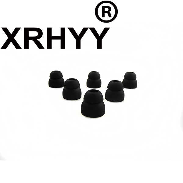 Xrhyy 3 Pasang Hitam Double Flange Silikon Earbud Seperti Jaringan 5 Mm untuk Beats Powerbeats 2 Wireless Sennheiser IE6 IE7 IE8 earphone