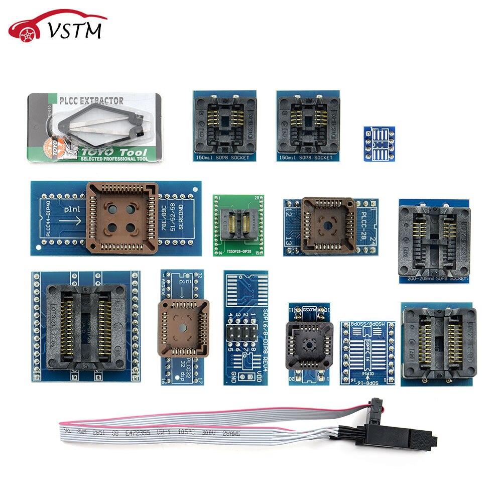 13PCS/Set Universal Adapter Socket IC Extractor for Programmer TL866ii Plus TL866A TL866CS EZP2010 G540