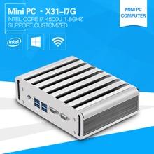 XCY мини промышленных ПК i7 4500U 1.8 ГГц настольный компьютер 2 * RS232 com 2 * lan алюминиевый сплав Дизайн офисный компьютер