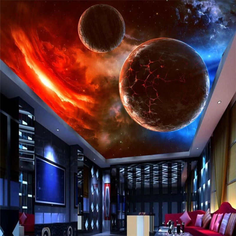 Us 885 41 Offbeibehang Custom 3d Wall Paper Murals Living Room Bedroom Stereo Floating Meteorite Universe Zenith Floor Wallpape Rpapier Peint In