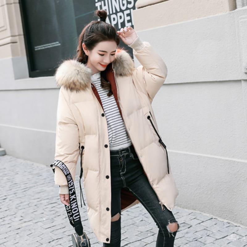 De Taille Chaud Long Le caramel Moyen D'hiver Nuw321 beige Colour Qualité Capuchon Black Veste Bas Grande Doudoune Haute Femmes Nouveau Mode À Vers 2018 Iw8q8Fp