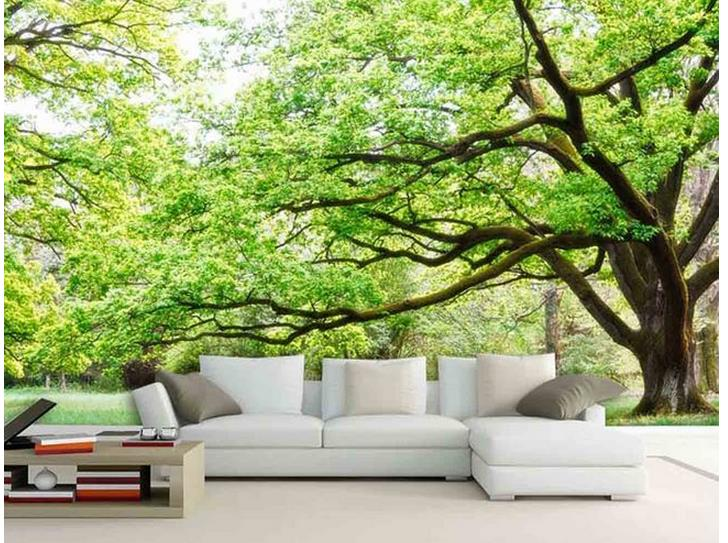 3d Wallpaper Green Forest Landscape Background Wall Photo