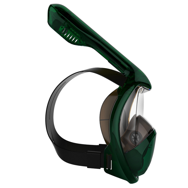 Full Face Snorkeling Mask With GoPro Mount Panoramic View Anti-fog Anti-Leak