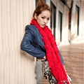 Women Winter Autumn Wool Knitted Tube Tassel Scarves Ring Thicken Warm Wind Mask Shawl Christmas New Year Gift K-pop Star Stoles