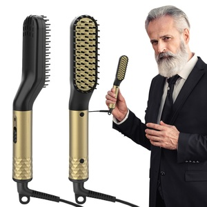 Image 4 - Hair Straightener Comb Durable Electric Straight Hair Comb Brush LCD Heated Ceramic Hair Straightening Brush Electric brush