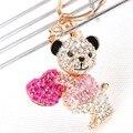 Симпатичный медведь сладкая любовь сердца шарм новый симпатичные кристалл сумки ключ сеть ну вечеринку любимых аксессуаров