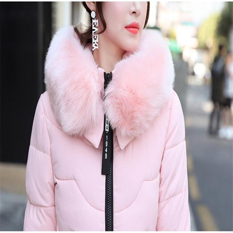 Coatcq594 2018 Vers Le Bas Moyen Hiver sky En Fourrure pink Parka Veste Capuche Mode Femme Coton Chaud Survêtement Col Arc De Black long Blue À Mince Femmes dwIXBqxY