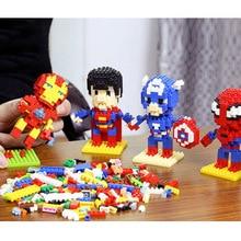 Avengers 4 Small particles Block Spider Man Captain America Iron Hulk Thor Batman Venom Building Blocks Bricks Boy Toys B509
