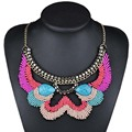Multicolor Beads Bohemia Statement Necklace Women Collar Necklaces & Pendants Colar Summer Style Jewelry For Gift Party