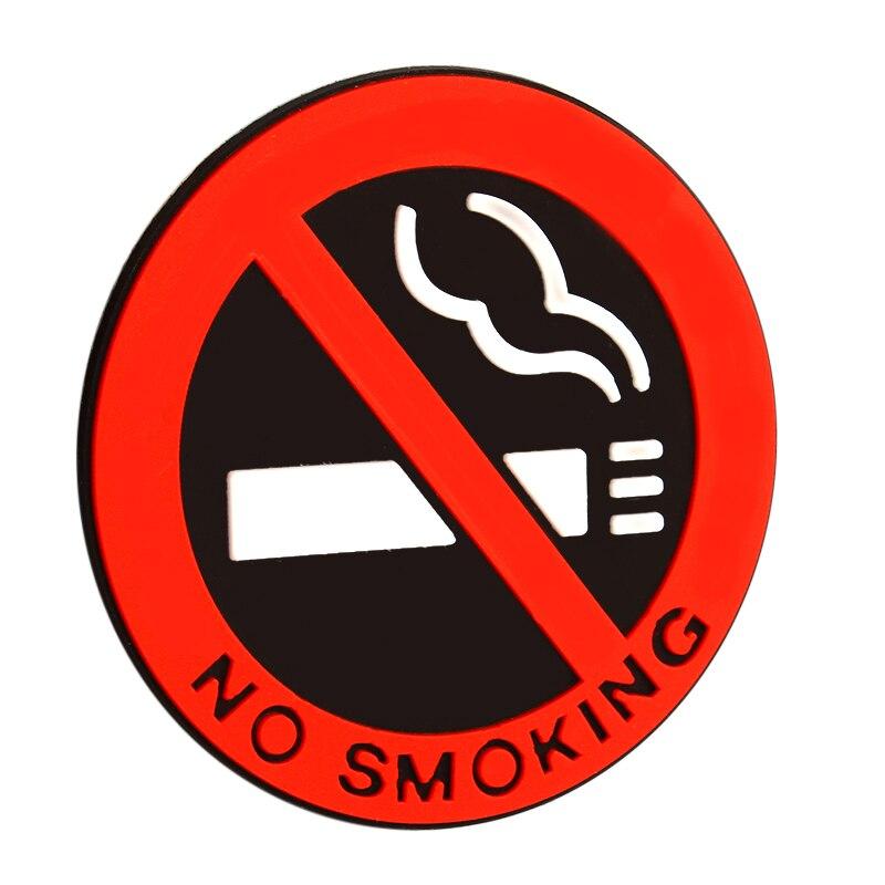 Лидер продаж не курить логотип Стикеры s Auto Стикеры s резиновые наклейка Стикеры автомобильные аксессуары для укладки не курить знак красны...