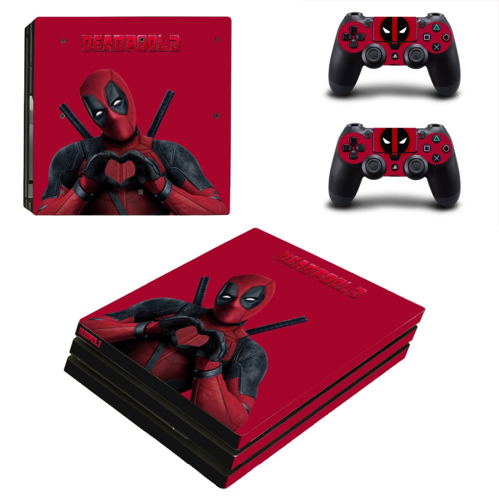 Film Deadpool 2 PS4 Pro Skin Sticker Decal for Sony PlayStation 4 Console and Controller PS4 Pro Skin Sticker Vinyl in Stickers from Consumer Electronics