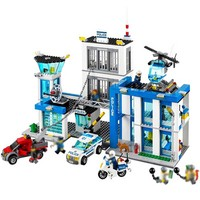 BELA 10424 City Police Station 60047 Building Blocks Model Educational Toys Compatible City 60047 Blocks Educational