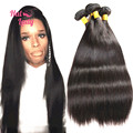 32 34 36 38 40 inches Peruvian Vrgin Hair Straight 8A Grade Human Hair Extension 3 Bundles Free Shipping No Tangle No Shedding