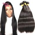 32 34 36 38 40 inches Peruvian Vrgin Hair Straight 8A Grade Human Hair Extension 3 Bundles Free Shipping No Tangle No Shedding