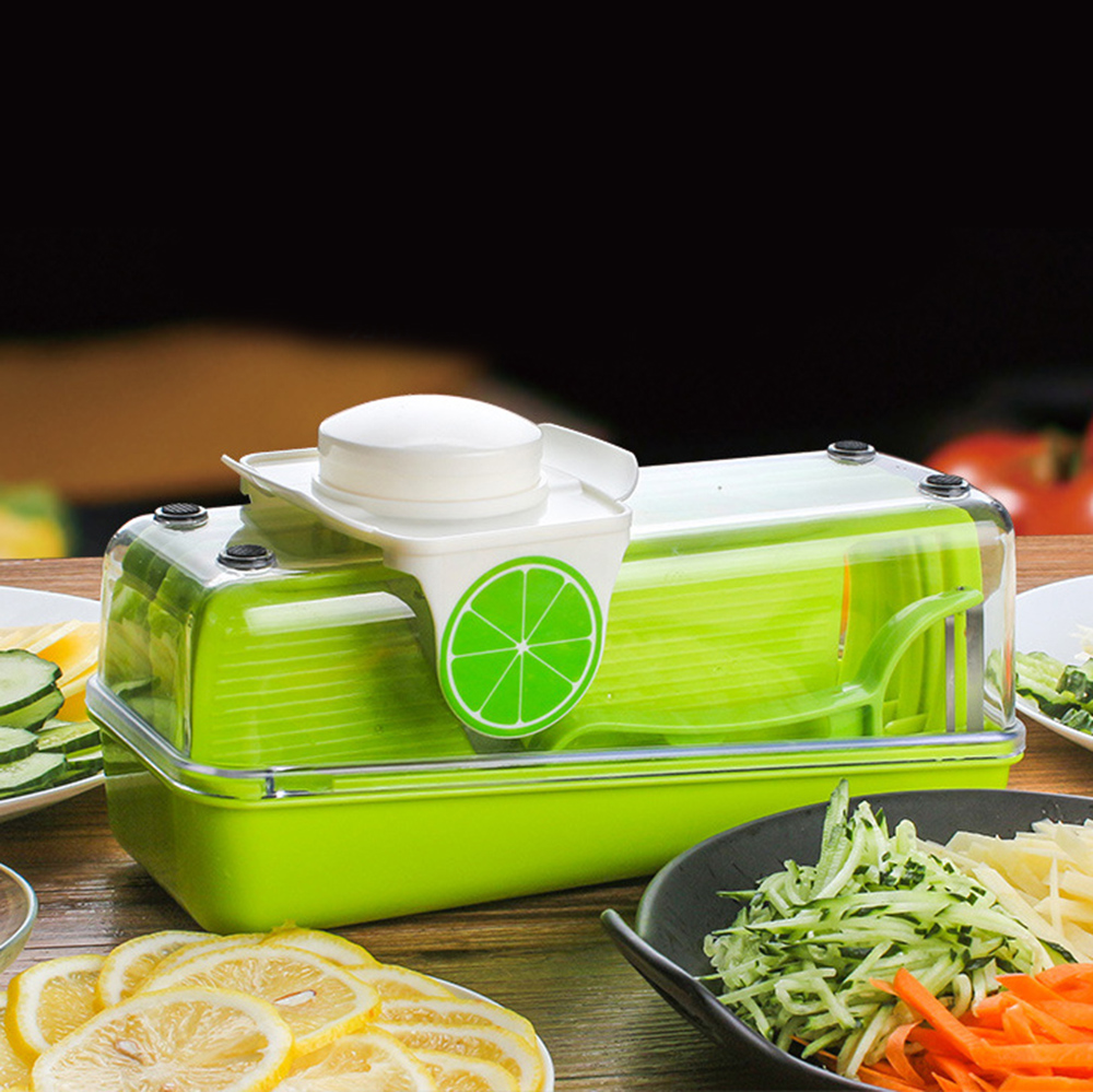 Multifunctional 8 in 1 Vegetable Slicer Chopper Salad Vegetable & Fruit Cutter Shredder with Storage Container Kitchen Tools
