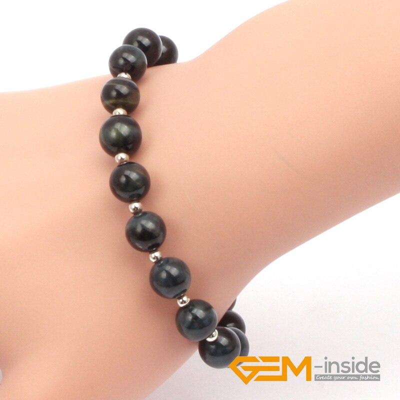 8mm blue tiger eye bracelet natural stone bracelet Guardian stone for Capricorn bracelet for man free shipping
