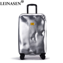 цена на Rolling Spinner Luggage travel suitcase Women Trolley case with Wheels 20inch boarding Carry On Travel Bag Trunk Retro suitcase