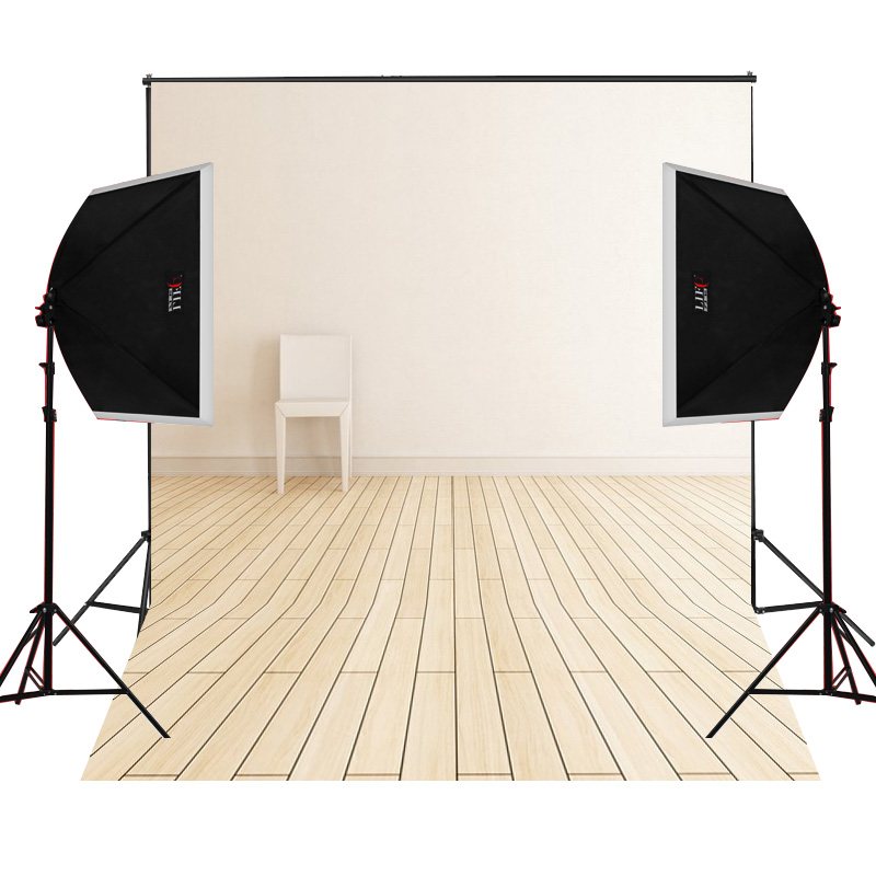 White wall bench scenic for kids photos camera fotografica studio vinyl photography background backdrop cloth digital props