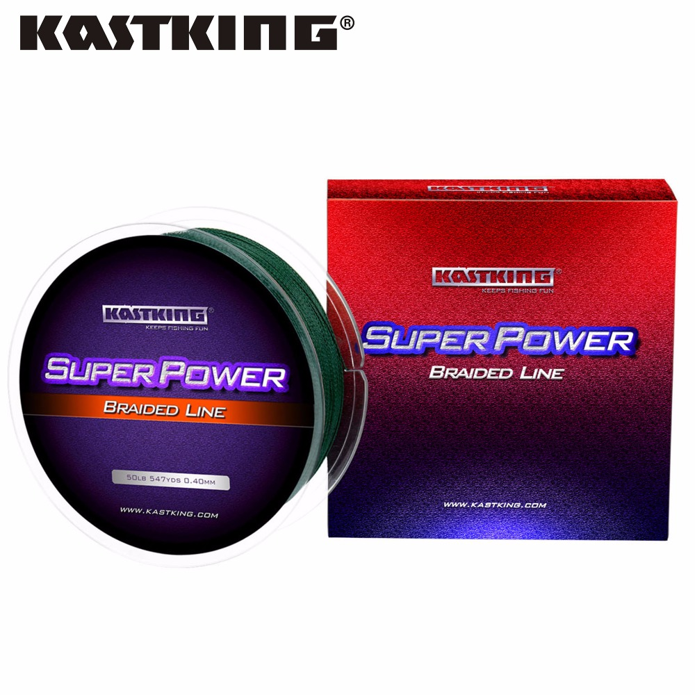KastKing SuperPower 500m PE Braided Fishing Line Extremely Low Memory Strong Multifilament Fishing Line Carp Fishing Saltwater