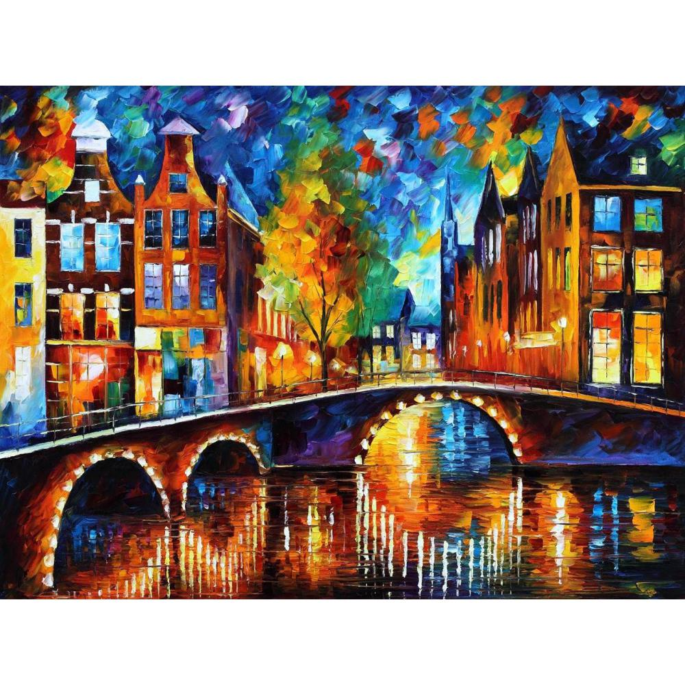 Canvas wall pictures pop art the bridges of amsterdam
