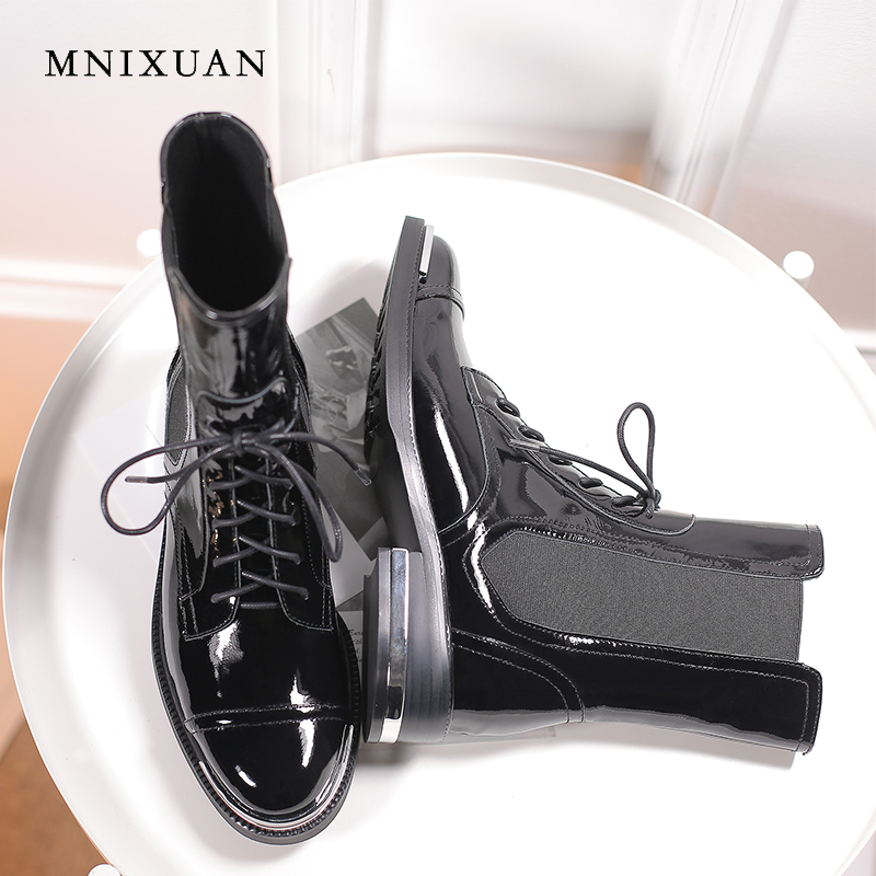 c5b24fed4ed98 Товар MNIXUAN handmade women shoes lace up ankle boots 2018 winter ...