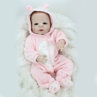 22 Full Body Silicone Reborn Baby Dolls Soft Vinyl Newborn Girl Dolls Fashion Dolls for Kids Cute Creative Birthday Gift L651