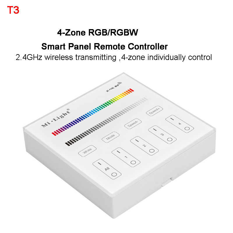 Miboxer 2.4 グラム 4 ゾーン RGB/RGBW led ストリップライトコントローラ無線 Lan ibox スマートドングルパネルリモート FUT037/ FUT038/iBox2/B3/T3/B0/FUT095/FUT096