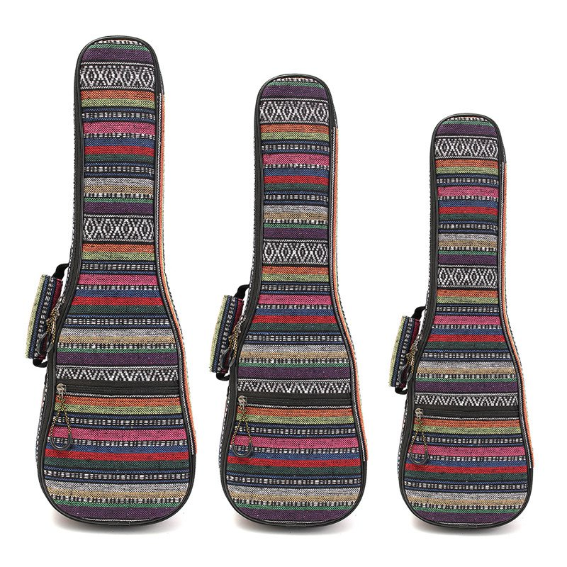 21 23 26 Inch Double Strap Hand Folk Canvas Ukulele Carry Bag Cotton Padded Case For Ukulele Guitar Parts & Accessories zebra 26 ukulele uke gig bag cover padded soft case box with shoulder strap for musical instruments parts accessories