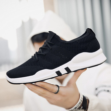 Men Casual Shoes Sneakers Breathable Fashion Slip On Walking White Male Solid Footwear