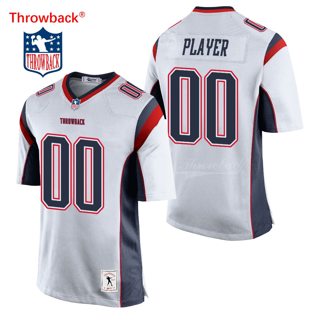 check out 048ea 29af9 US $33.99 |Throwback Jersey Men's New England American Football Jersey  Customize Any Number Name White Free Shipping Wholesale Cheap-in America ...