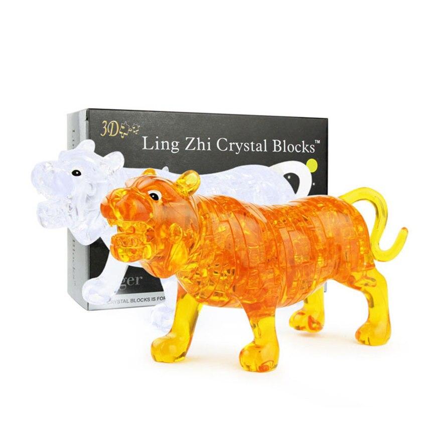 Effizient 2018 Tops Qualität Mode 3d Kristall Puzzle Nette Tiger Modell Diy Gadget Schöne Gebäude Spielzeug Geschenk Dropshipping Juguete X * Guter Geschmack