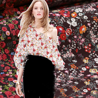 Elegant pastoral floral print 6% spandex 94% cotton fabric tissu for everyday clothing DIY Accessories stoffen tecidos SP4690