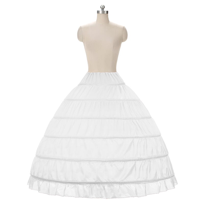 Bridal Ball Gown Petticoat White 6 Hoops Underskirt Bridal - Wedding Accessories - Photo 2