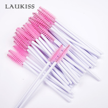 50Pcs/Pack Disposable Eyelashes Brushes Mascara Wands Applicator Wand Eyelash Comb Spoolers Makeup Tools LAUKISS