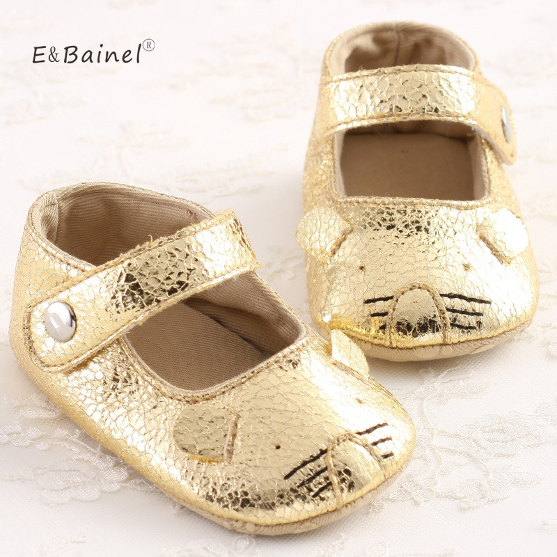 New Newborn Baby Girls Princess Shoes Infant PU Leather Crib Soft Bottom Shoes Prewalkers Sneaker 0-18M