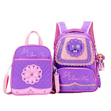 2 Pcs/sets School Bags For Girls Sweet Cute Princess girls Children Backpack Kids Lace Pearl decoration Primary School Backpack(China)
