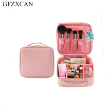 New fashion cosmetic bag portable travel large capacity PU leather storage high quality professional
